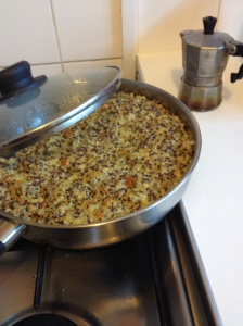 omelette de quinoa con calabaza